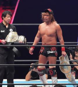 IWGPヘビーとIWGPインターコンチネンタルの2冠を保持する内藤哲也。新日の誇るスーパースターの1人だ
