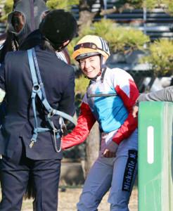 2日連続の勝利を挙げて笑顔を見せるミシェル