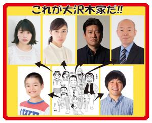 大沢木一家の出演陣