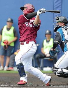 6回2死一塁、適時三塁打を放つ和田恋
