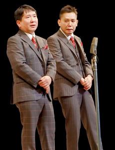 「江戸まちたいとう芸楽祭!」に出演した爆笑問題の田中裕二(左)と太田光