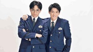4月期の連ドラでダブル主演する中島健人(左)と平野紫耀。警察学校の制服姿を初公開