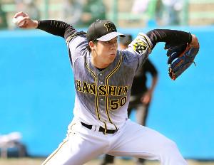 先発で3回1失点の阪神・青柳