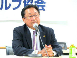 日本プロゴルフ協会の倉本昌弘会長