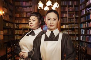 映画「約束のネバーランド」でイザベラを演じる北川景子(右)とクローネ役の渡辺直美