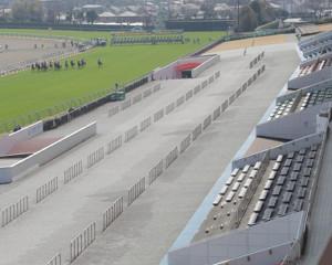 1日の中山競馬も無観客で行われた