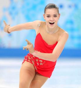ソチ五輪SPで演技するソトニコワ