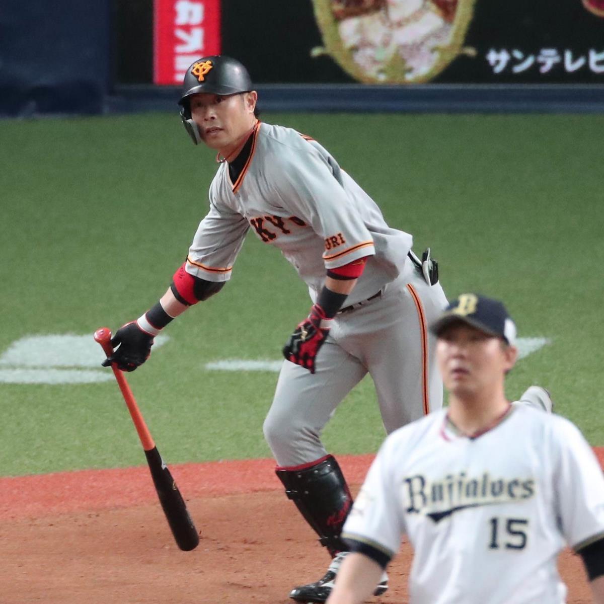 6回2死一、三塁、亀井善行が右前へ同点適時打を放つ(投手・荒西祐大、カメラ・岩崎 龍一)