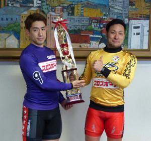 新山響平(左)と郡司浩平