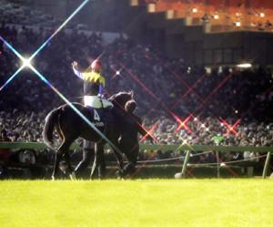 ディープインパクトの引退式(2006年12月24日、中山競馬場)