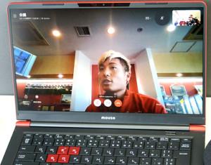 練習後にビデオ通話で取材に応じた浦和DF山中