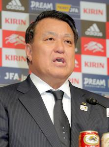 新型コロナウイルスの検査で陽性だった日本サッカー協会の田嶋会長