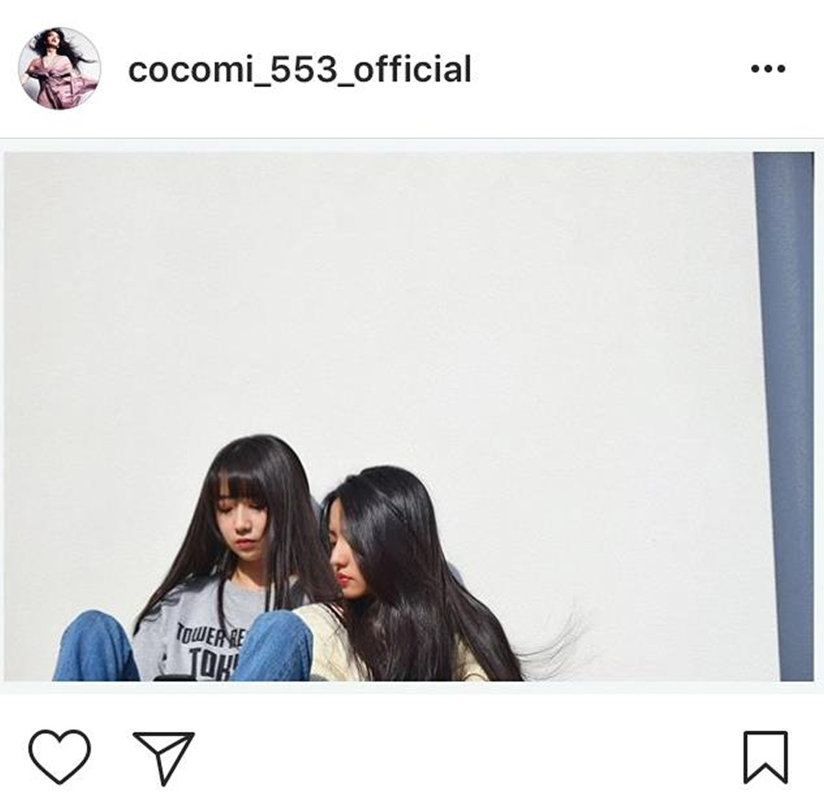 CocomiとKoki,の姉妹ショット(インスタグラムより@cocomi_553_official)