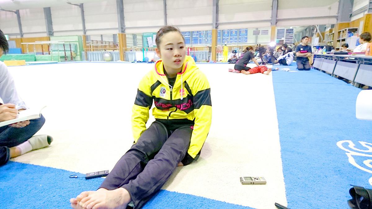 全日本個人総合に向けた練習を公開した宮川紗江
