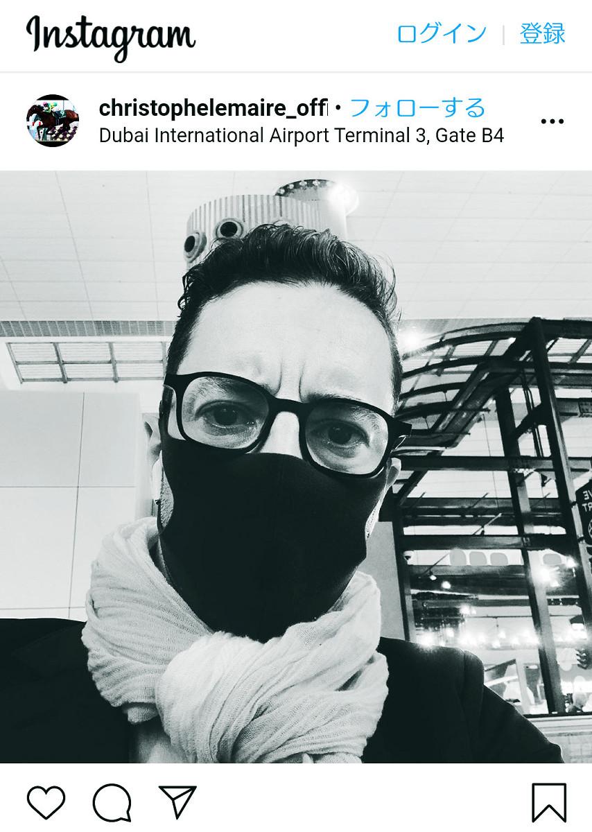 ドバイ国際空港からメッセージを寄せたルメール騎手(インスタグラムより)