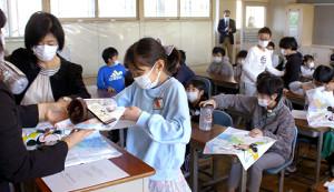 TDRのチョコクランチが配布された浦安市立富岡小学校