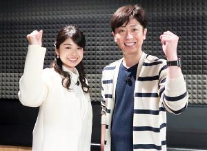 新番組のMCを務めるフットボールアワー・後藤輝基(右)