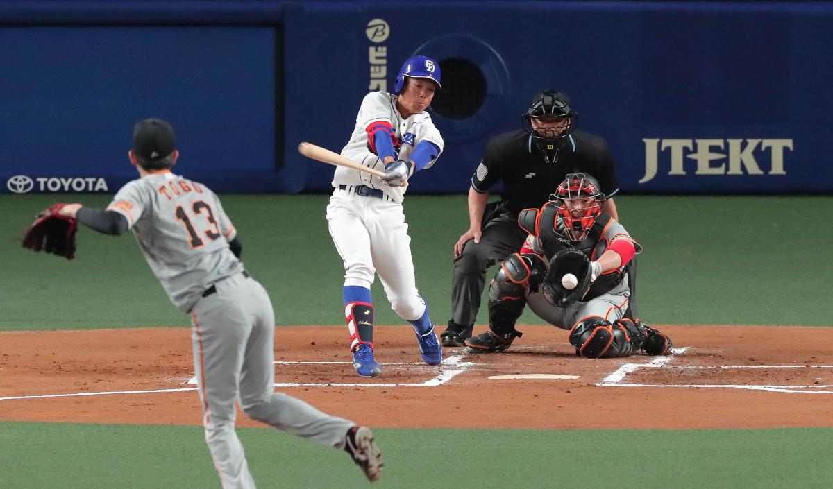 中日】ドラフト5位・岡林勇希、4打数無安打も強肩で3点目阻止 ...