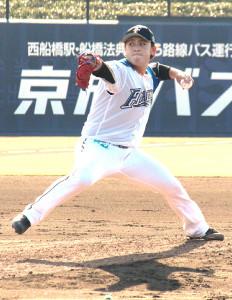 西武との2軍練習試合(鎌ケ谷)で登板した日本ハムのドラフト1位・河野竜生