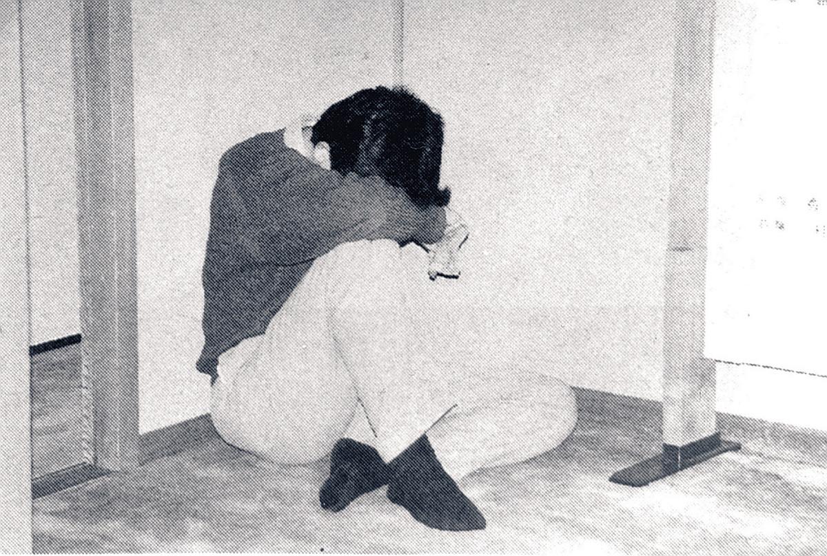 昇段決定直後の中座真三段(週刊将棋1996年3月13日号掲載=提供・マイナビ出版)