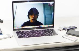 ビデオ通話で試合後の取材対応をした横浜C・中村