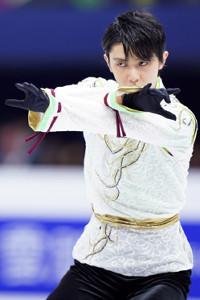 四大陸選手権での羽生結弦(カメラ・矢口 亨)