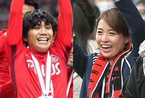 柏木陽介(左)と佐藤渚さん