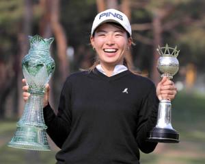 昨年大会で優勝した渋野日向子