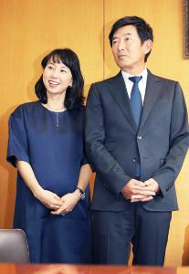 東尾理子、石田純一夫妻