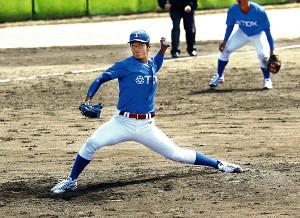 3年目の飛躍を誓うTDK・長谷川(写真は3月30日のオープン戦)