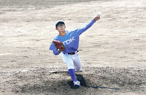 投球術を高めて2年目も活躍を目指すTDK・佐藤開(写真は3月30日のオープン戦)