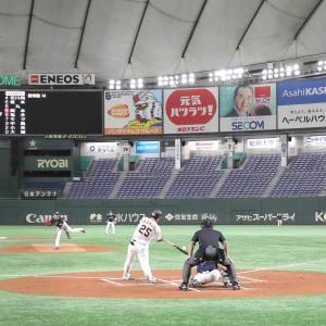 2月29日、巨人対ヤクルトのオープン戦は東京ドームを無観客にして行われた