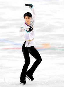 平昌五輪フィギュアスケート男子シングルフリーで演技する羽生結弦
