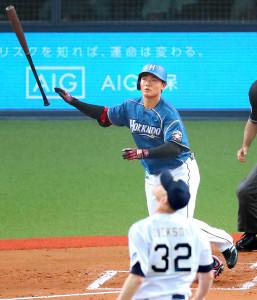 2回無死、清宮が右越えにプロ1号となるソロ本塁打を放つ(投手・ディクソン=2018年5月9日撮影)