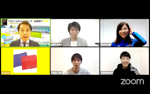 おうち時間を利用してマスク(左下)を作っていることを明かした木村文子(右上=YouTubeチャンネルで)