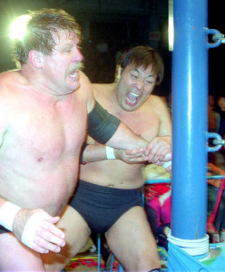 92年、親友でもあったスタン・ハンセンと激闘を繰り広げる鶴田さん