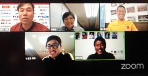 出演した(上段右から時計回りに)GK曽ケ端準、柳沢敦氏、小笠原満男氏、河村アナウンサー、中田浩二氏
