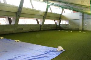 福島あづま球場内の室内練習場