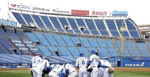 横浜スタジアム左翼後方に増設されたウィング席