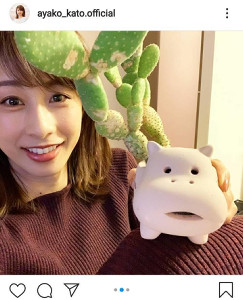 インスタグラムより@ayako_kato.official