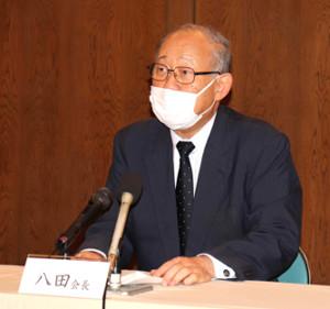 日本高野連の八田英二会長