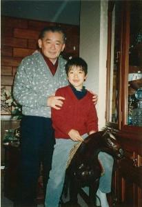 8歳のDAIGOと竹下登さん(C)アメーバオフィシャルブログ