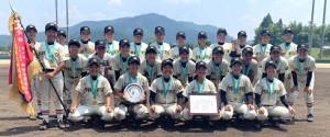 昨年の女子高校野球選手権を制した作新学院(提供写真)