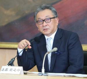 昨年6月、フジテレビ社長に就任した際の遠藤龍之介氏。常に人の気をそらさない受け答えで知られる