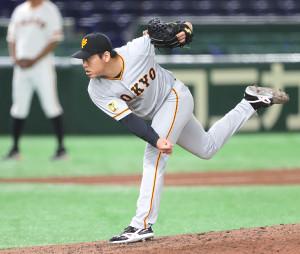 第2試合の4回から登板した桜井は、3イニングを投げ無失点