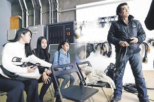 藤岡弘、の3人の娘も撮影を見守った