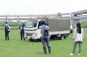 シカは足立区のトラックで区内の施設に搬送された