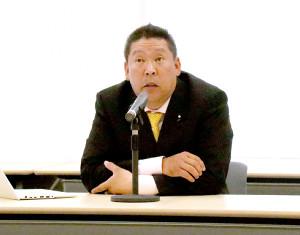 定例会見を行ったNHKから国民を守る党の立花孝志党首