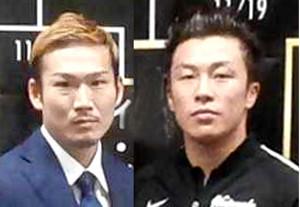 決勝で対戦する草野慎吾(左)と渡部大介