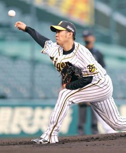 5回5安打2失点の阪神・西勇輝